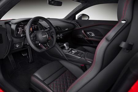 Audi R8 Spyder Cabrio 2016 Plus Interieur Innenraum und Cockpit Bildquelle: Audi.de