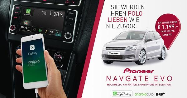 Bild vom NAVGATE EVO von Pioneer Aktionsangebot bis Ende April 2017 Bildquelle: pioneer-car.de