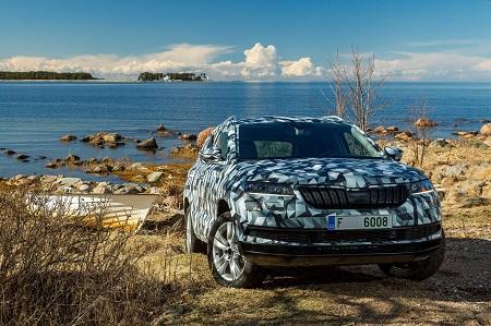 Bild vom neuen Skoda Karoq Kompakt-SUV, Nachfolger des Yeti Frontansicht Bildquelle: skoda-presse.de