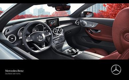 C Klasse Cabrio 2016 Innenraum Interieur