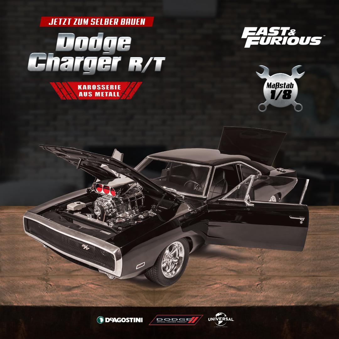 Der Dodge Charger R/T hier als Nachbau im Maßstab 1-8 Bildquelle: deagostini