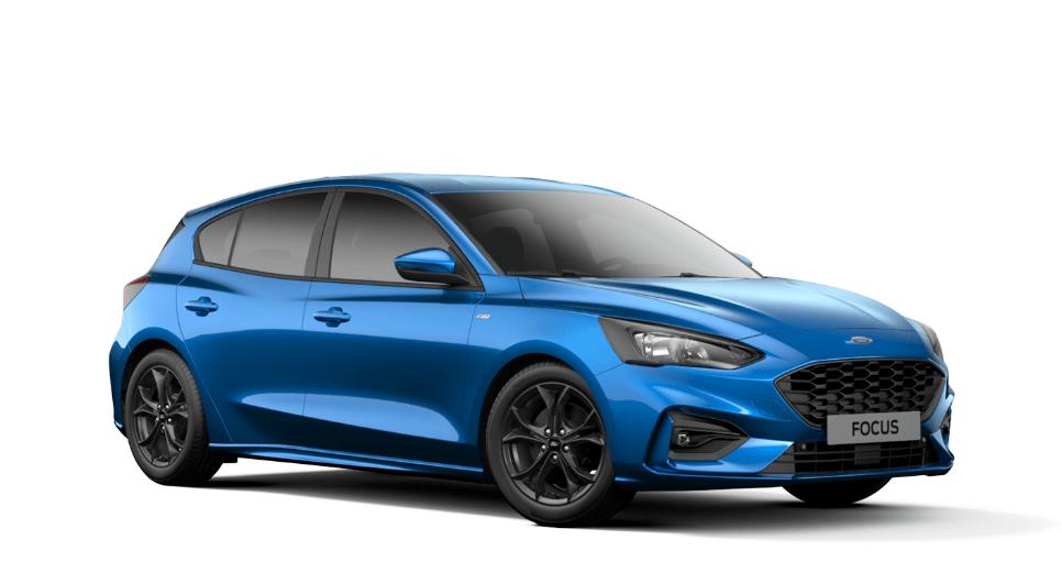 Der neue Ford Focus 2018, hier als Kompakter in Farbe Dynamic Blau Metallic Bildquelle: ford.de