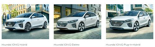 Der neue Hyundai Ioniq in 3 Varianten Hybrid Elektro Plugin-Hybrid Bildquelle: Hyundai.de