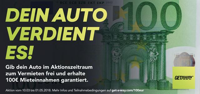 10 EUR für die Anmeldung und die 100 ersten Anmelder erhalten 100 EUR garantiert