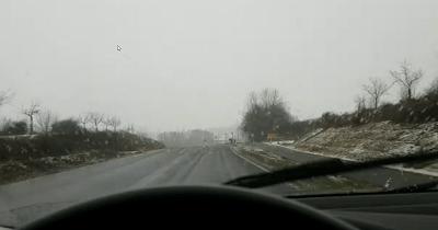 Fahrtipps bei Schnee und Eis - Fahrt bei Eisregen mit Schnee und Eisglätte