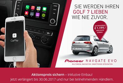 Golf 7 Infotainment neu entdeckt mit NAVGATE EVO Anbindung vom Smartphone Bildquelle: pioneer-car.de