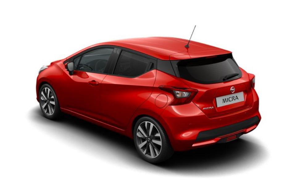 Heckansicht des neuen Micra 2017 im Nissan Micra Erfahrungsbericht Bildquelle: nissan.de