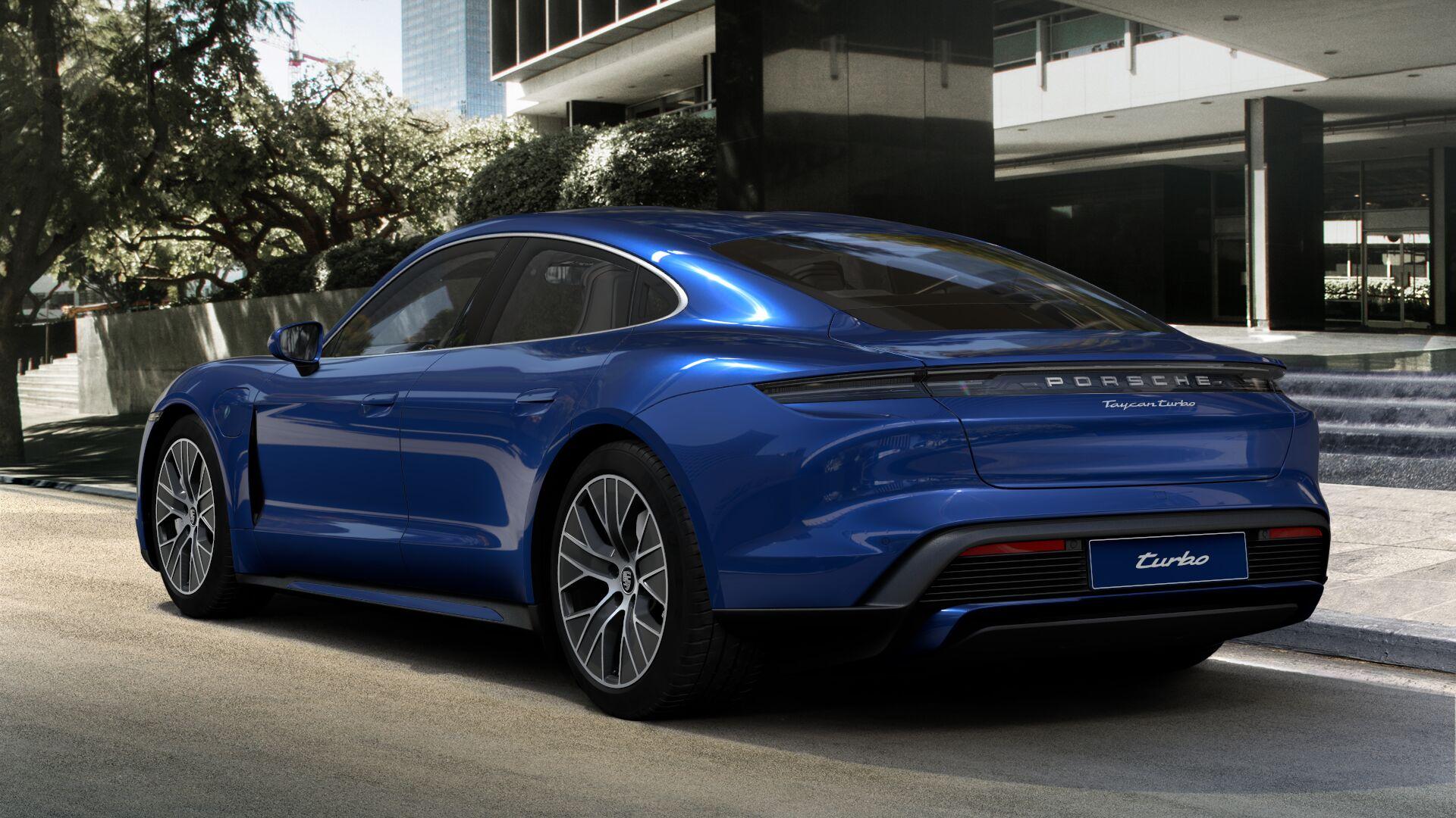 Heckansicht des neuen Porsche Taycan Turbo Bildquelle: Porsche
