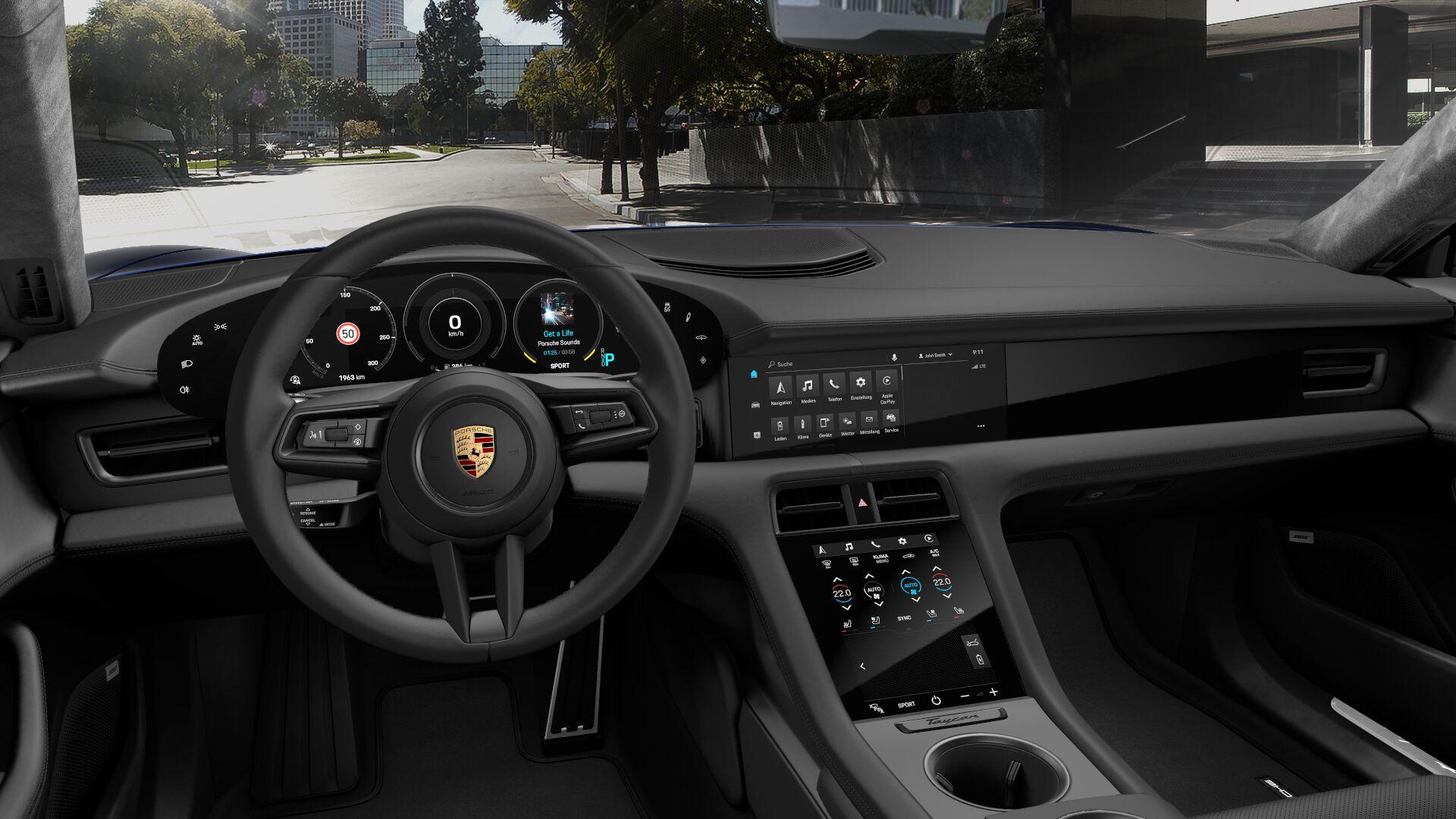 Innenraum im neuen Porsche Taycan Bildquelle: Porsche