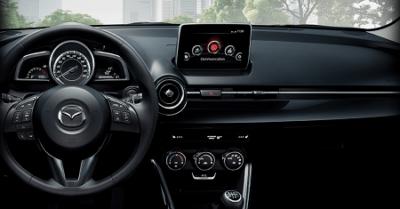 Mazda 2 Nakama der neue Mazda 2 als Sondermodell Nakama - der Kleinwagen von Mazda als dein Gefährte Blick ins Cockpit Innenraum Bildquelle: mazda.de