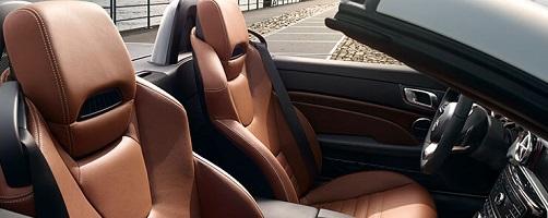 Mercedes SLC 300 Erfahrungen Bild vom Innenraum und der Ledersitze inkl. Airscarf Bildquelle: mercedes-benz.de