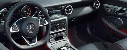 Mercedes SLC 300 Erfahrungen Blick ins Cockpit des Roadsters Bildquelle: mercedes-benz.de