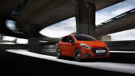 Peugeot 208 Frontansicht und Seitenansicht