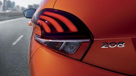 Peugeot 208 Heckansicht mit Krallenoptik