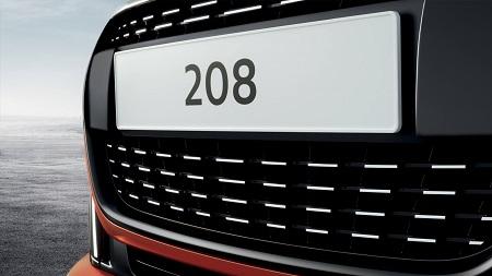 Peugeot 208 Kühlergrill Front Stoßfänger