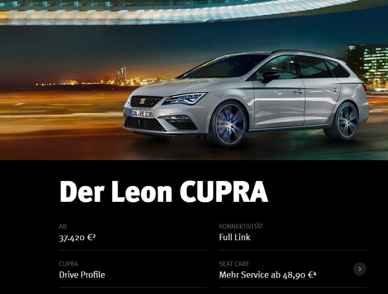 Reimport/Import Seat Leon Cupra 290 aus Polen