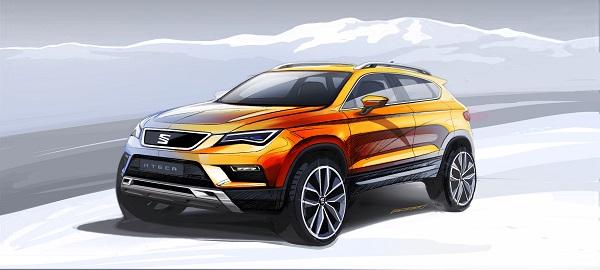 Seat Ateca SUV - der neue Seat Ateca zeigt sich von Vorne - Frontansicht, der erste SUV von Seat überhaupt Bildquelle: Seat.de