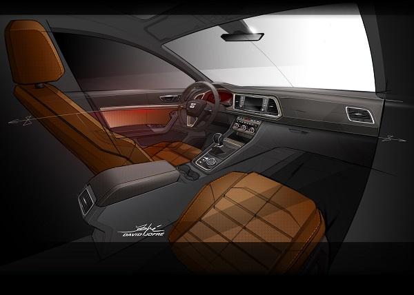 Seat Ateca SUV - der neue Seat Ateca zeigt sich von Innen - Innenraum, der erste SUV von Seat überhaupt Bildquelle: Seat.de