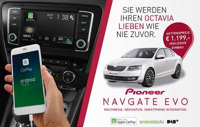 Skoda Octavia 5E Aktion zum NAVGATE EVO von Pioneer Bildquelle: car-pioneer.de