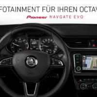 Skoda Octavia 5E Integration vom NAVGATE EVO im Armaturenbrett-Cockpit Bildquelle: car-pioneer.de