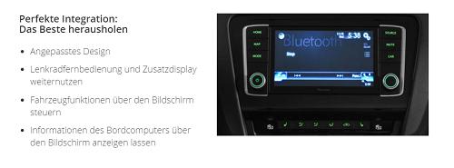 Steuerung von Musik im Skoda Octavia 5E mit dem NAVGATE EVO Bildquelle: car-pioneer.de