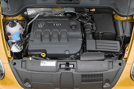 VW Beetle Erfahrungsbericht Bild vom Motorraum im neuen VW Beetle Bildquelle: Volkswagen AG