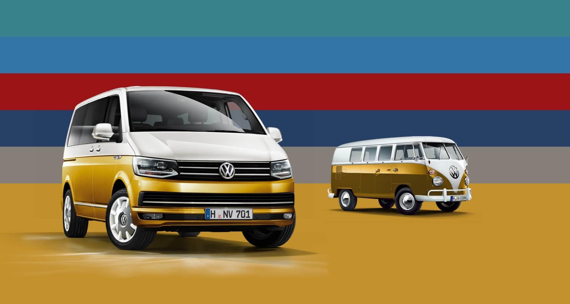 VW Bulli 70 Jahre und Generation Six zeigen Moderne und Tradition des Bulli Bildquelle: Volkswagen