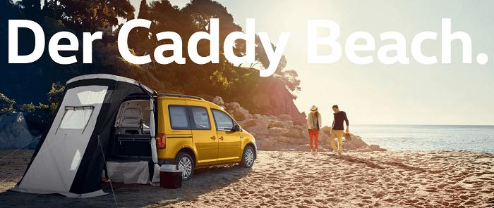 VW Caddy Maxi Erfahrungen, Heckansicht des Caddy Beach Bildquelle: Volkswagen