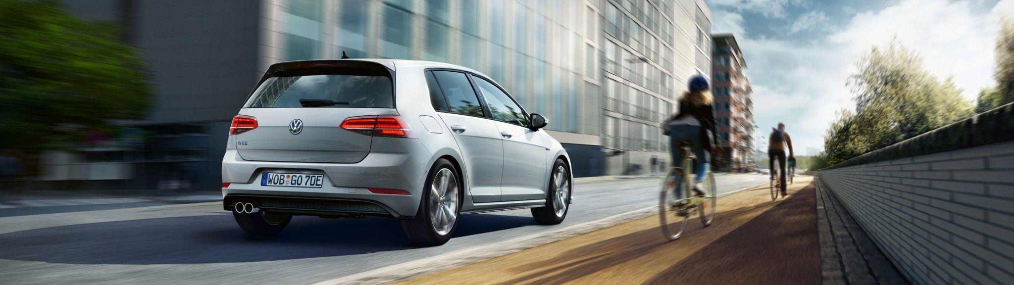 VW Golf GTE Heckansicht des Hybrid Golfs Funktionsweise Blind Spot Bildquelle: Volkswagen.de