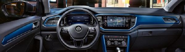 VW T-Roc Daten und Fakten Cockpit und Armaturen im neuen T-Roc Bildquelle: VW