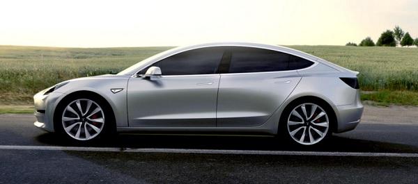Tesla Model 3 Seite